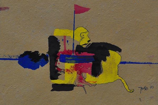 Ilustración: JOSE SANTOS / Monkey on a boat