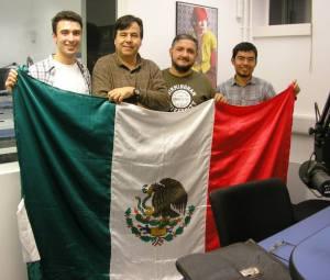 De izquierda a derecha: Fernando G. Chico, Olivier Acuña, Edgar Madrid y Ricardo Corona Torres. Foto de Pangea.