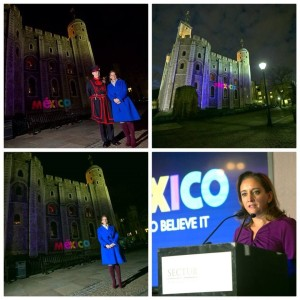 """Campaña turística """"México, Live It to Believe It"""" presentada en Londres en noviembre 2013/Claudia Ruiz Massieu archivo personal en Facebook."""