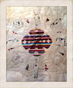 'Myology of the Horse (the shaman histories)' 60x55cm. Arte de José Santos. http://www.jsantos.co.uk