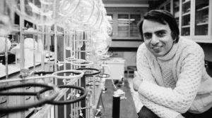 Carl Sagan. Foto Especial.