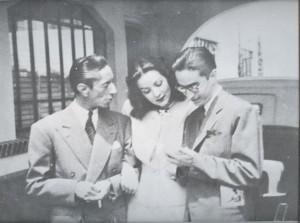 Agustín Lara, María Félix, Efraín Huerta, 1945. Cortesía de Raquel Huerta-Nava.