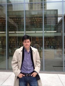 Jorge Ortega en Poetry Foundation, Chicago. Foto Cortesía.