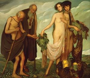 """""""La dádiva"""", 1910, de Ángel Zárraga. Esta obra está ubicada en el Museo Nacional de Arte (MUNAL), México."""