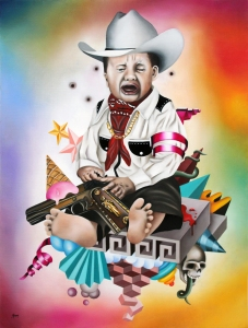 """NO quiero ser Narco"", obra de Benjamin de Brousse. Oleo sobre papel. 48 cm x 36 cm. 2012.  http://www.benjamindebrousse.com/"