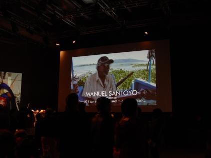 """Premier del documental """"Miradas a la Muerte"""", en el Nottingham Contemporary, Reino Unido, con apoyo del Mexican Cultural Centre (MCC), Reino Unido. Foto: Eduardo Estala Rojas. 2013."""