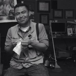 Benjamín Pacheco López, reportero, escritor y fotógrafo. Foto: Ruth Gámez.