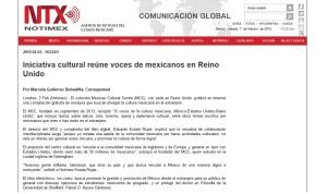 El MCC en NOTIMEX, Agencia de Noticias del Estado Mexicano. http://www.notimex.gob.mx/