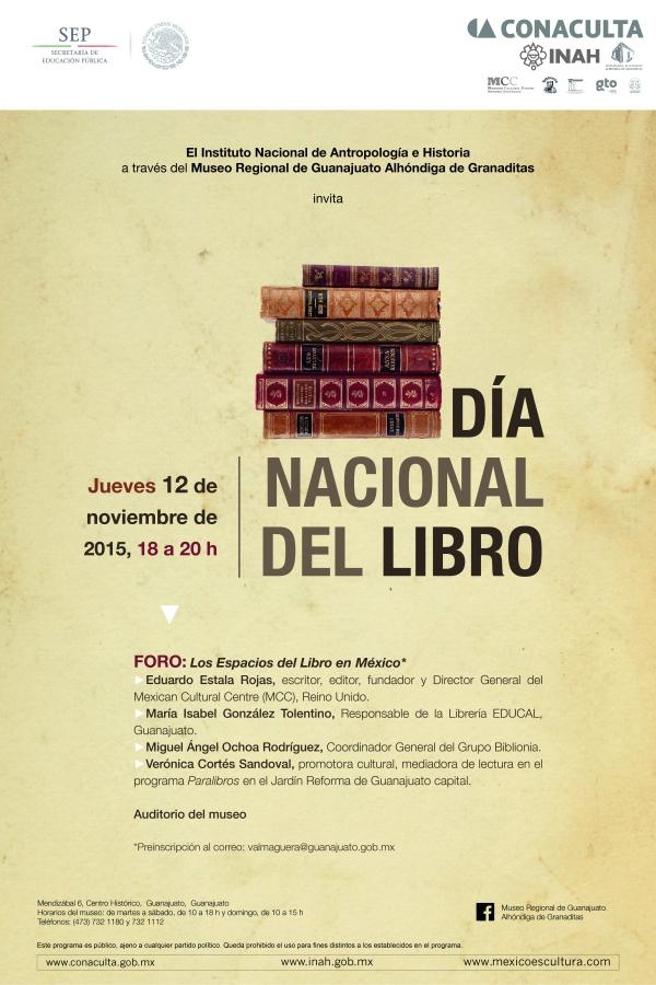 Para más información: https://mexicanculturalcentre.com/2015/10/28/dia-nacional-del-libro-en-mexico/