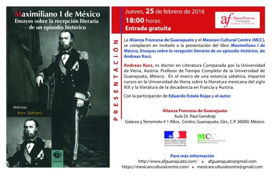 Cartel Alianza Francesa de Guanajuato. 2016.