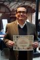"""El 22 de abril de 2016, el Mexican Cultural Centre (MCC), Reino Unido, recibió reconocimiento del Ayuntamiento de Guanajuato a través de la Dirección Municipal de Cultura y Educación, México: """"por su ardua labor en beneficio de la cultura guanajuatense, a través del impulso a la lectura y la actividad editorial"""". Fotografía: Dirección de Cultura y Educación de Guanajuato, México."""