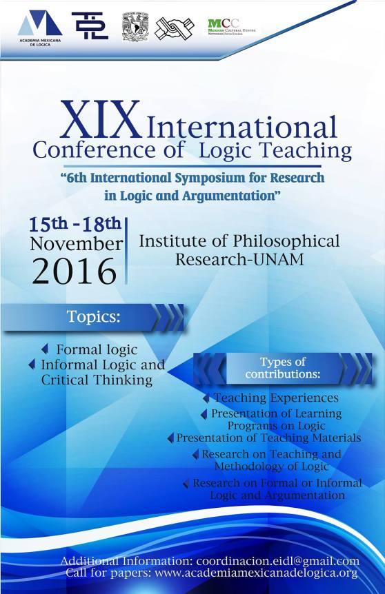 Para más información: www.academiamexicanadelogica.org