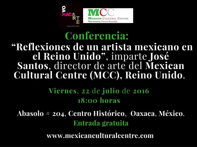 José Santos. Conferencia. 2016.  MCC.