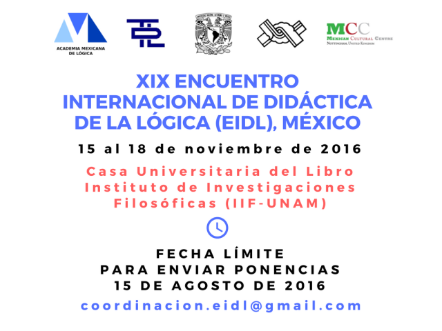 XIX Encuentro Internacional de Didáctica de la Lógica (EIDL)