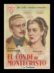 Cartel del Conde de Montecristo de Chano Urreta (1942).